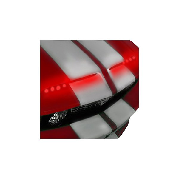 PlasmaGlow® - Red 2-Strip LED Hood Scoop Kit