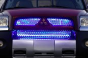 Image may not reflect your exact vehicle! PlasmaGlow® - ThunderGrille LED Grille Kit Installed