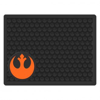 Plasticolor® - 2nd Row Footwell Coverage Black Rubber Floor Mat with Rebel Symbol