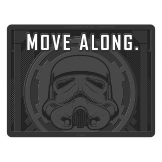Plasticolor® - 2nd Row Footwell Coverage Black Rubber Floor Mat with Stormtrooper Move Along
