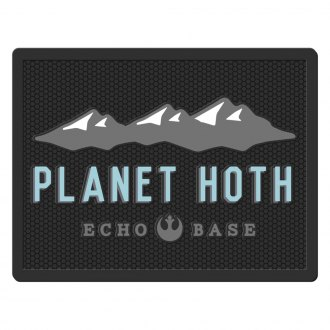 Plasticolor® - 2nd Row Footwell Coverage Black Rubber Floor Mat with Planet Hoth