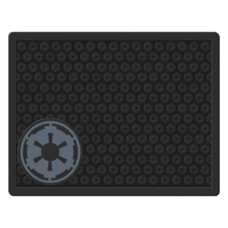 Plasticolor® - 2nd Row Footwell Coverage Black Rubber Floor Mat with Empire Logo