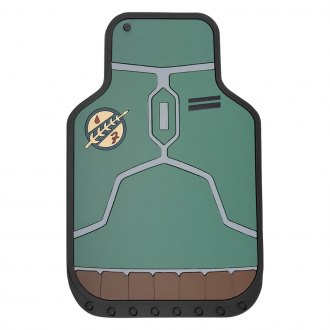 Plasticolor® - 1st Row Black Rubber Floor Mats with Boba Fett