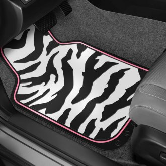 Plasticolor® - Zebra Pattern with Pink Edge Floor Mats