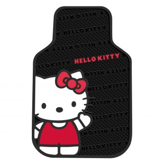 Plasticolor® - 1st Row Black/Pink Rubber Floor Mats with Hello Kitty Design