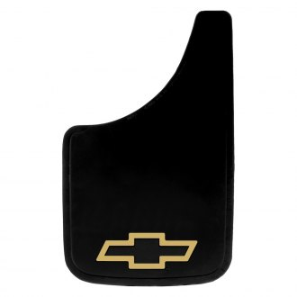 Plasticolor® - Easy Fit Mud Flaps with Gold Chevy Logo