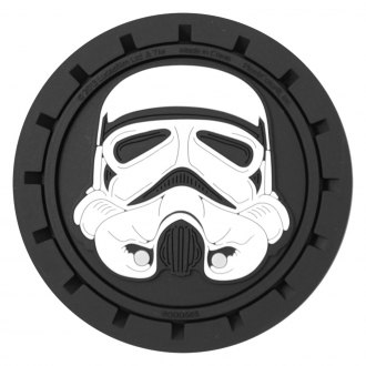Plasticolor® - Round Auto Cup Holder Coasters with Star Wars Stormtrooper Logo