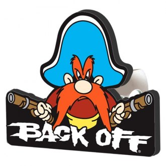 "Plasticolor® - Hitch Cover with Yosemite Sam Back Off Logo for 2"" Receivers"