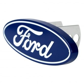 "Plasticolor® - Blue Hitch Cover with Chrome Ford Logo for 2"" Receivers"