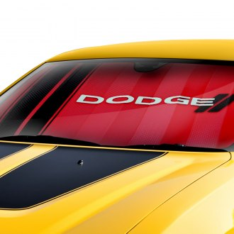 Plasticolor® - Dodge Red Logo Bubble Accordion Sun Shade