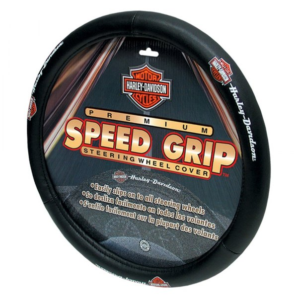 Plasticolor® - Speed Grip Steering Wheel Cover with Harley-Davidson Script Logo