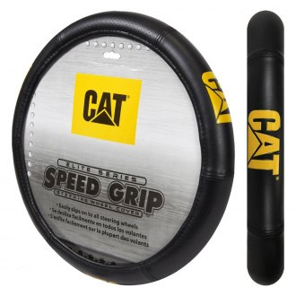 Plasticolor® - Yellow CAT Logo Elite Series Steering Wheel Cover