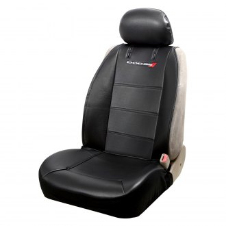 Plasticolor® - Low Back Sideless Seat Cover with Dodge Logo Design