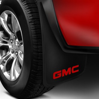 Plasticolor® - Easy Fit Mud Flaps with Red GMC Logo