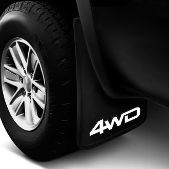 Plasticolor® - Easy Fit Mud Flaps with White 4-WD Logo
