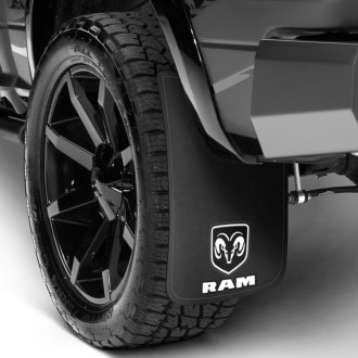 Plasticolor® - Easy Fit Mud Flaps with White Ram Logo