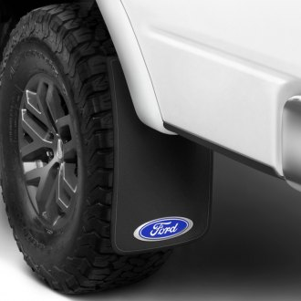 Plasticolor® - Easy Fit Mud Flaps with Blue Ford Logo