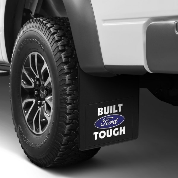 Plasticolor® - Black Mud Flaps with Built Ford Tough Logo