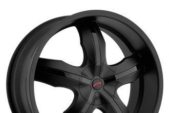 "PLATINUM® - 212B WIDOW Matte Black with Gloss Black Inserts (18"" x 8"", +42 Offset, 5x114.3 Bolt Pattern, 74.1mm Hub)"
