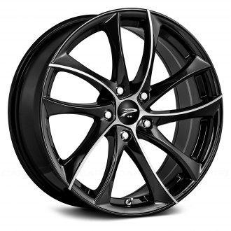PLATINUM® - 438U GYRO Gloss Black with Diamond Cut Face and Clear-Coat