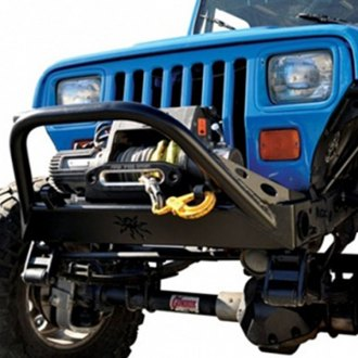 Poison Spyder Customs® - BFH™ Stubby Raw Front Winch HD Bumper with Hoop