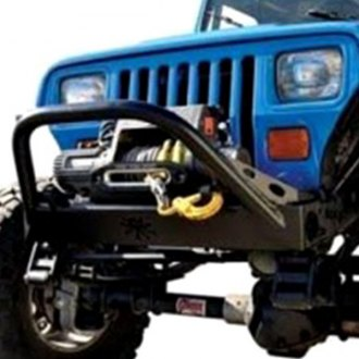 Poison Spyder Customs® - BFH™ Stubby Bare Steel Front Winch HD Bumper with Hoop