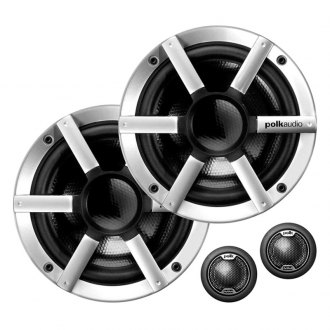 "Polk Audio® - 6-1/2"" 2-Way 250W White Marine Flush Speakers"