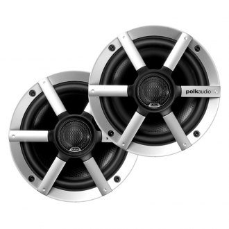 "Polk Audio® - 6-1/2"" 2-Way 200W White Marine Flush Speakers"