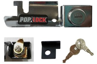 Pop & Lock® - Chrome Manual Tailgate Lock (Plastic Handle)