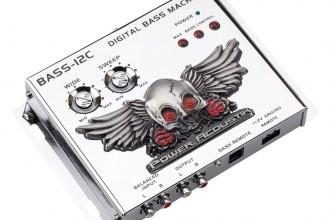 Power Acoustik® - Chrome Bass Maximizer with Illuminated Badge