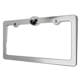 Power Acoustik® - Chrome License Plate Frame with Camera