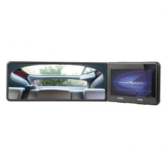 "Power Acoustik® - Rear View Mirror with Swiveling 4.3"" LCD Screen"