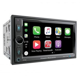 "Power Acoustik® - Double DIN AM/FM/MP3/WMA/MP4/AVI Digital Media Receiver with 6.5"" Touchscreen Display and Built-In Bluetooth"