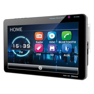 "Power Acoustik® - Double DIN DVD/CD/AM/FM/MP3/WMA/WAV/MP4 Receiver with 10.3"" Touchscreen Display and Built-In Bluetooth"
