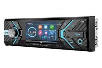 "Power Acoustik® - Single DIN DVD/CD/AM/FM/MP3/WMA/WAV/MP4 Receiver with 3.4"" Display and Built-In Bluetooth"