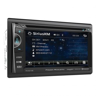 "Power Acoustik® - Double DIN DVD/CD/AM/FM/MP3/MP4 Receiver with 6.2"" Touchscreen Display Built-In Bluetooth and SiriusXM Ready"