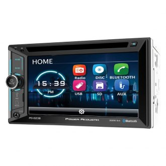 "Power Acoustik® - Double DIN DVD/CD/AM/FM/MP3/WMA/WAV/MP4 Receiver with 6.2"" Touchscreen Display and Built-In Bluetooth"