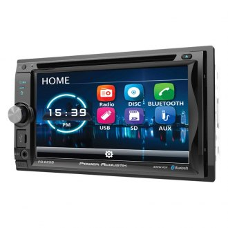 "Power Acoustik® - Double DIN DVD/CD/AM/FM/MP3/WMA/WAV/MP4 Receiver with 6.5"" Touchscreen Display and Built-In Bluetooth"