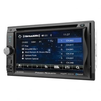 "Power Acoustik® - Double DIN DVD/CD/AM/FM/MP3/WMA/WAV/MP4 Receiver with 6.2"" Touchscreen Display, Built-In Bluetooth and SiriusXM Ready"