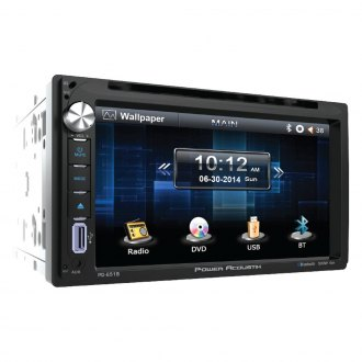 "Power Acoustik® - Double DIN DVD/CD/AM/FM/MP3/MP4 Receiver with 6.5"" Touchscreen Display and Built-In Bluetooth"