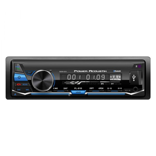 Power Acoustik® - Single DIN AM/FM/MP3 Digital Media Receiver with Built-In Bluetooth