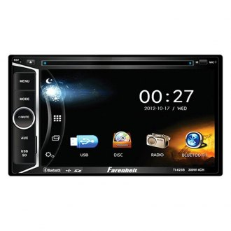 "Power Acoustik® - Farenheit™ Double DIN DVD/CD/AM/FM/MP3/WMA/WAV/MP4 Receiver with 6.2"" Touchscreen Display and Built-In Bluetooth"