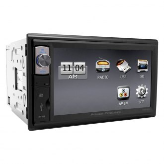 "Power Acoustik® - Double DIN AM/FM/MP3/WMA Mechless Stereo Receiver with 6.5"" Motorized, Touchscreen Monitor"