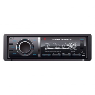 Power Acoustik® - Single DIN CD/MP3/AM/FM Receiver with 32GB USB Playback