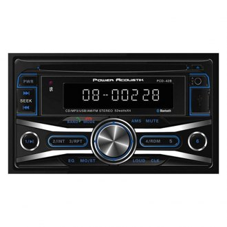 Power Acoustik® - Double DIN CD/AM/FM/MP3 Receiver with Built-In Bluetooth and 32GB USB Playback