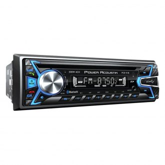 Power Acoustik® - Single DIN CD/AM/FM/MP3/WMA Receiver with Detachable Face Plate