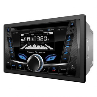 Power Acoustik® - Double DIN CD/AM/FM/MP3 Receiver with Built-In Bluetooth and Detachable Face Plate