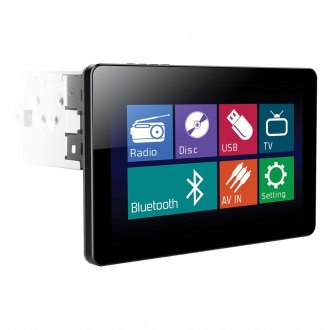 "Power Acoustik® - Single DIN DVD/CD/AM/FM/MP3/WMA Receiver with 10.3"" Touchscreen Monitor and Built-In Bluetooth"