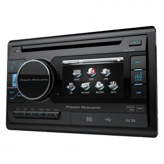 "Power Acoustik® - Double DIN DVD/CD/AM/FM/MP3/MP4 Stereo Receiver with 3.4"" LCD Display"