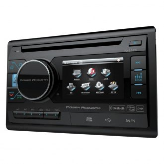 "Power Acoustik® - Double DIN DVD/CD/AM/FM/MP3/MP4 Stereo Receiver with 3.4"" LCD Display and Built-In Bluetooth"